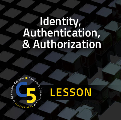 View more about the Identity Authentication, and Authorization Lesson Lesson