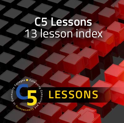 Cybersecurity curriculum: 13 C5 Cybersecurity Concept Lessons