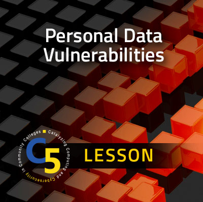 View Information about the Personal Data Vulnerabilities Lesson
