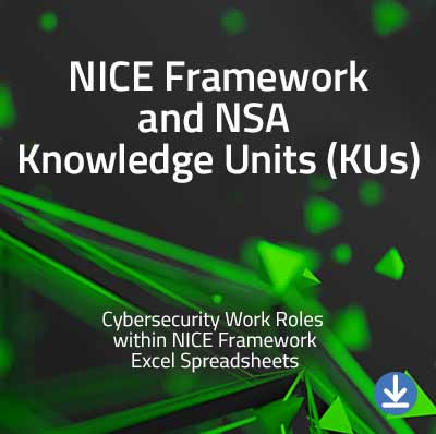 View information about the NICE Framework & NSA Knowledge Units - Work Roles